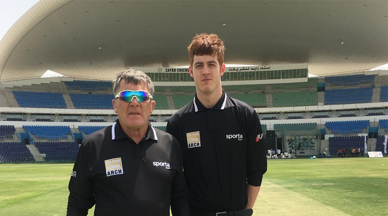 NORTH EAST CRICKET UMPIRE OFFICIATES IN THE UNITED ARAB EMIRATES