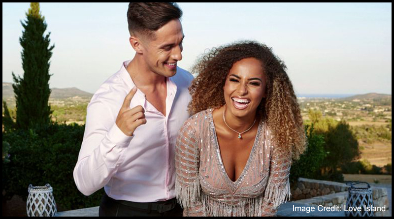 Love Island series five winners Greg O'Shea (left) and Amber Gill (right)
