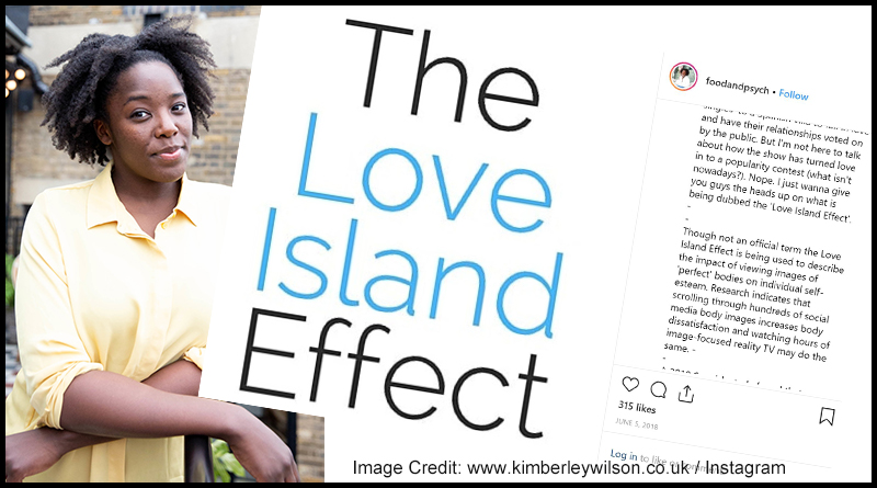 Chartered Psychologist, Kimberley Wilson took to Instagram to warn about The Love Island Effect