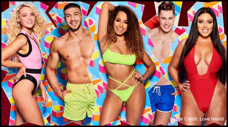 Love Island series five contestants Lucie Donlan, Tommy Fury, Amber Gill, Curtis Pritchard and Anna Vakili