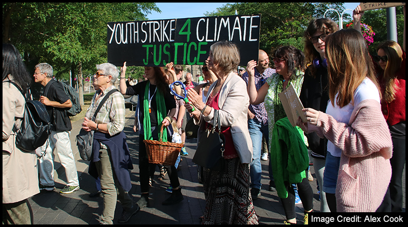 100's gathered in central Middlesbrough on Friday to call for action on Climate Change