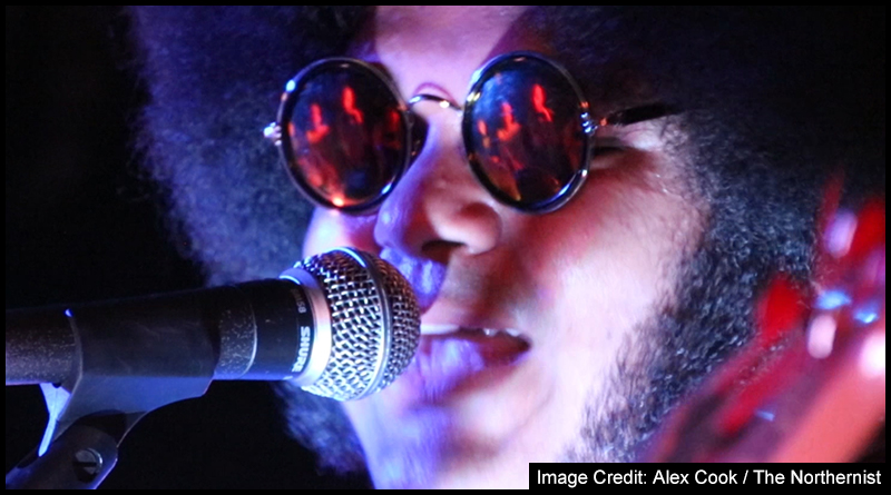 Headliner Dylan Cartlidge, the man everyone wanted to see, on stage at the Westgarth Social Club