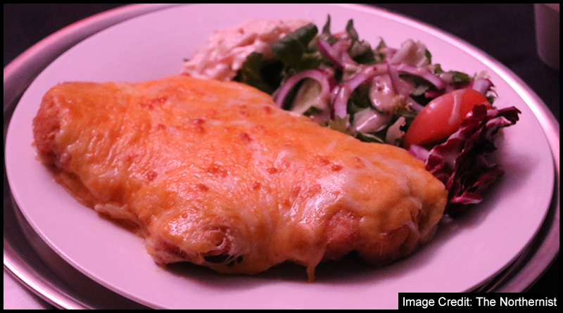 One of the night's four Parmo's, notably missing the customary side of chips!