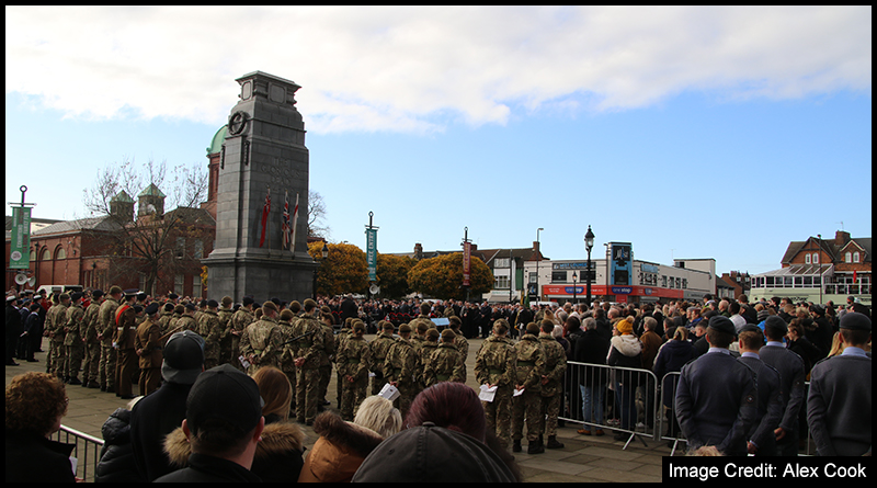 Sunday's Remembrance Service on Linthorpe Road saw a strong turnout from the local community