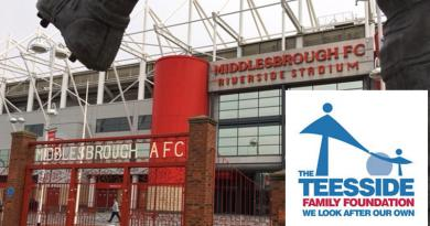 TEESSIDE FAMILY FOUNDATION COLLECTING AT TONIGHT'S BORO GAME