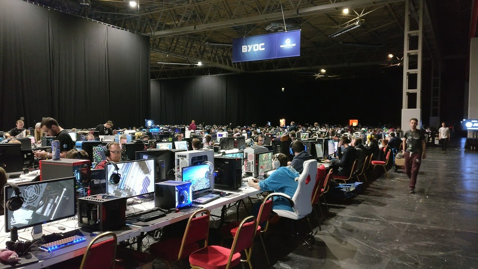 The LAN hall at the Insomnia Gaming Festival, the biggest esports competition in the UK