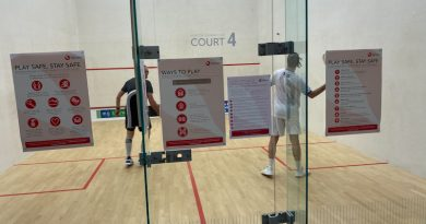 """"""" NOBODY COULD PLAY A PROPER GAME OF SQUASH """" HOW CORONAVIRUS HAS EFFECTED SQUASH"""